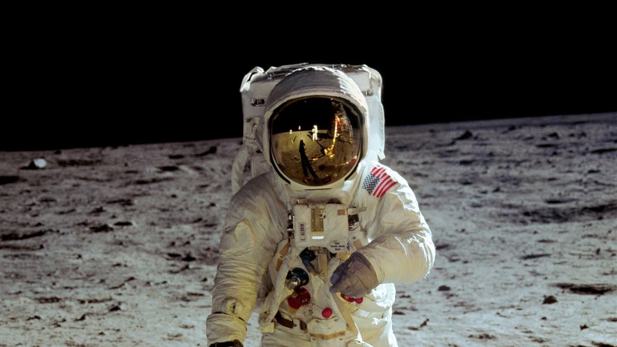 Moon Landing in 1969. Neil Armstrong, Apollo 11 Mission Commander.